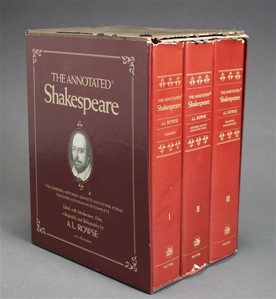 The Annotated Shakespeare, Three Volume Set