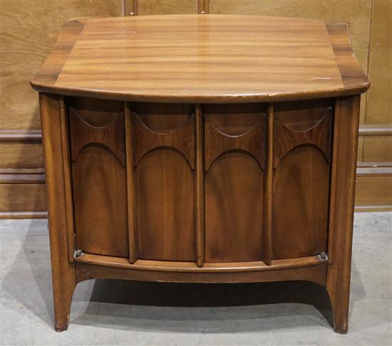 Mid-Century Modern Walnut and Rosewood 'Brasilia' Side Cabinet, Possibly by Broyhill, H: 22 in, W: 26 in, D: 23-1/2 in