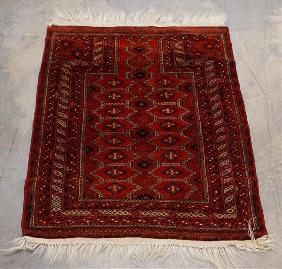 Afghan Rug, 3 ft 8 in x 3 ft 1 in