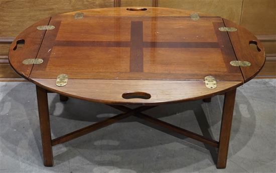 George III Style Mahogany Butler's Tray Coffee Table