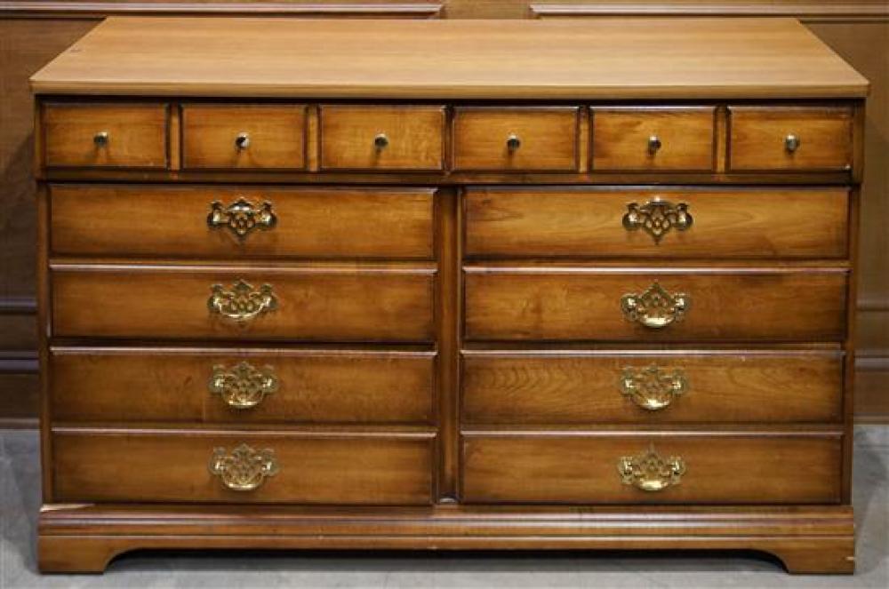 Maple Double Dresser, H: 30 in, W: 48 in, D: 19 in