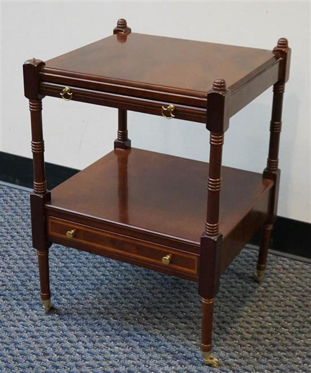 Fruitwood Two-Tier Side Table