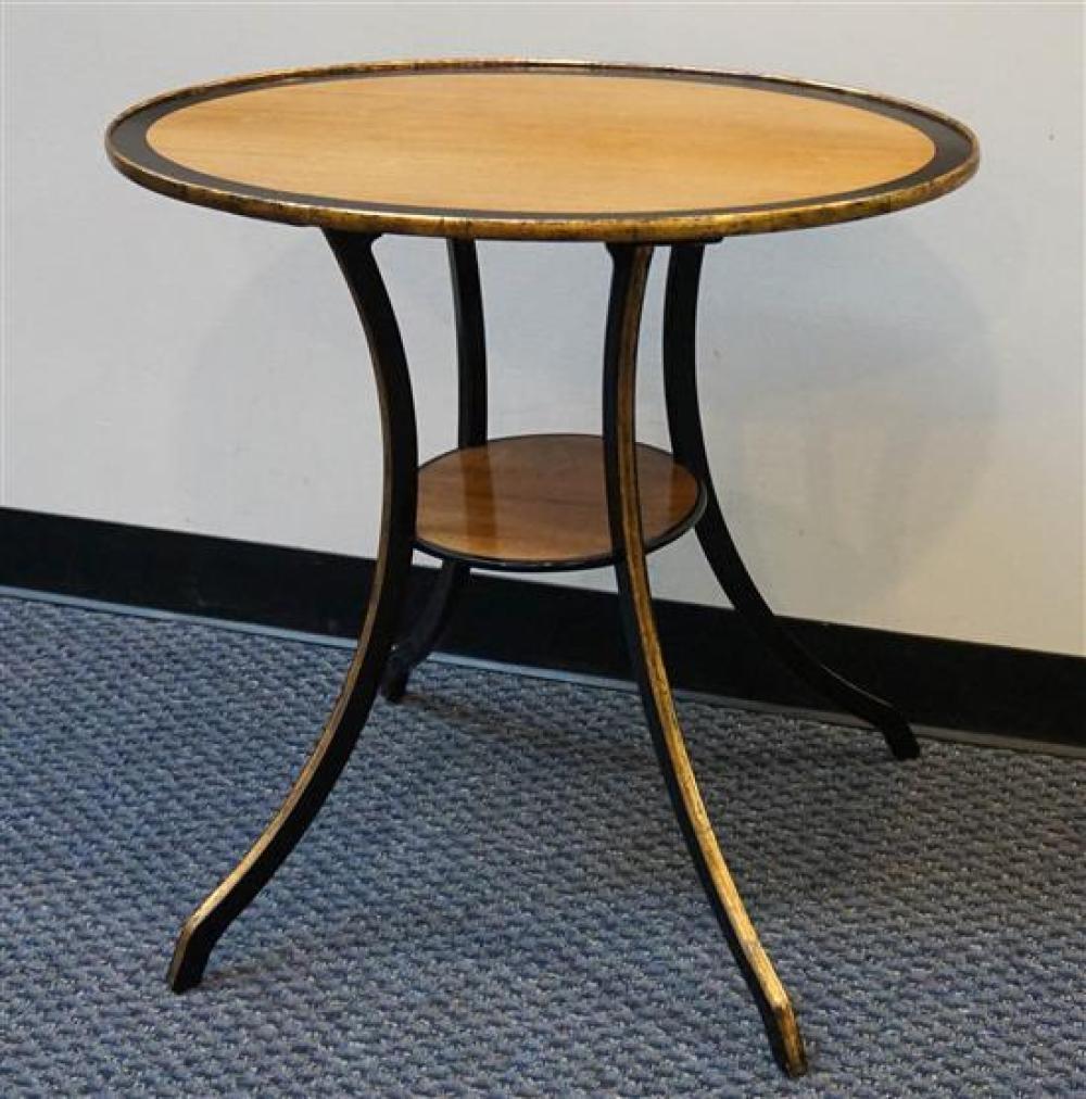 Regency Style Mahogany Side Table, H: 29in, W: 30 in, D: 18-1/2 in