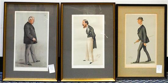 Collection of Three Vanity Fair 'Spy' Prints