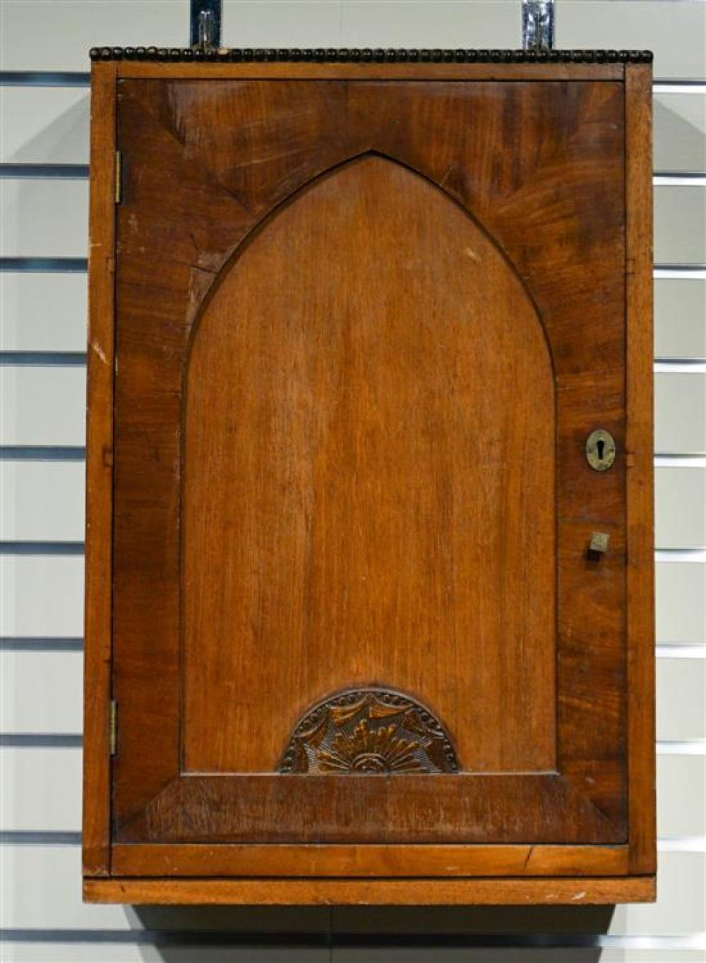 Victorian Mahogany Hanging Cabinet, 24-3/4 x 16-1/2 in