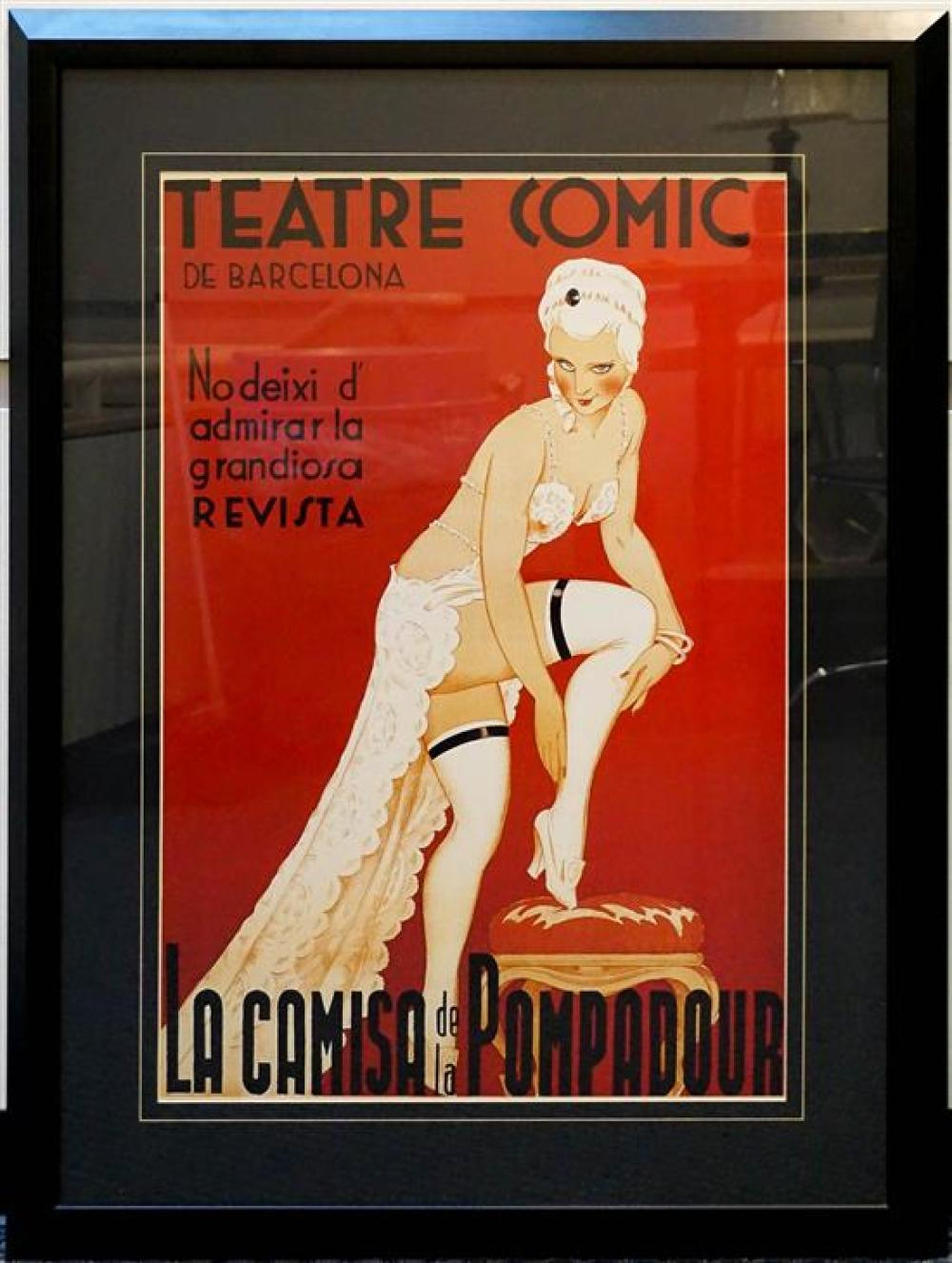 Framed Teatre Comic Reproduction Poster, Frame: 48 x 36 in