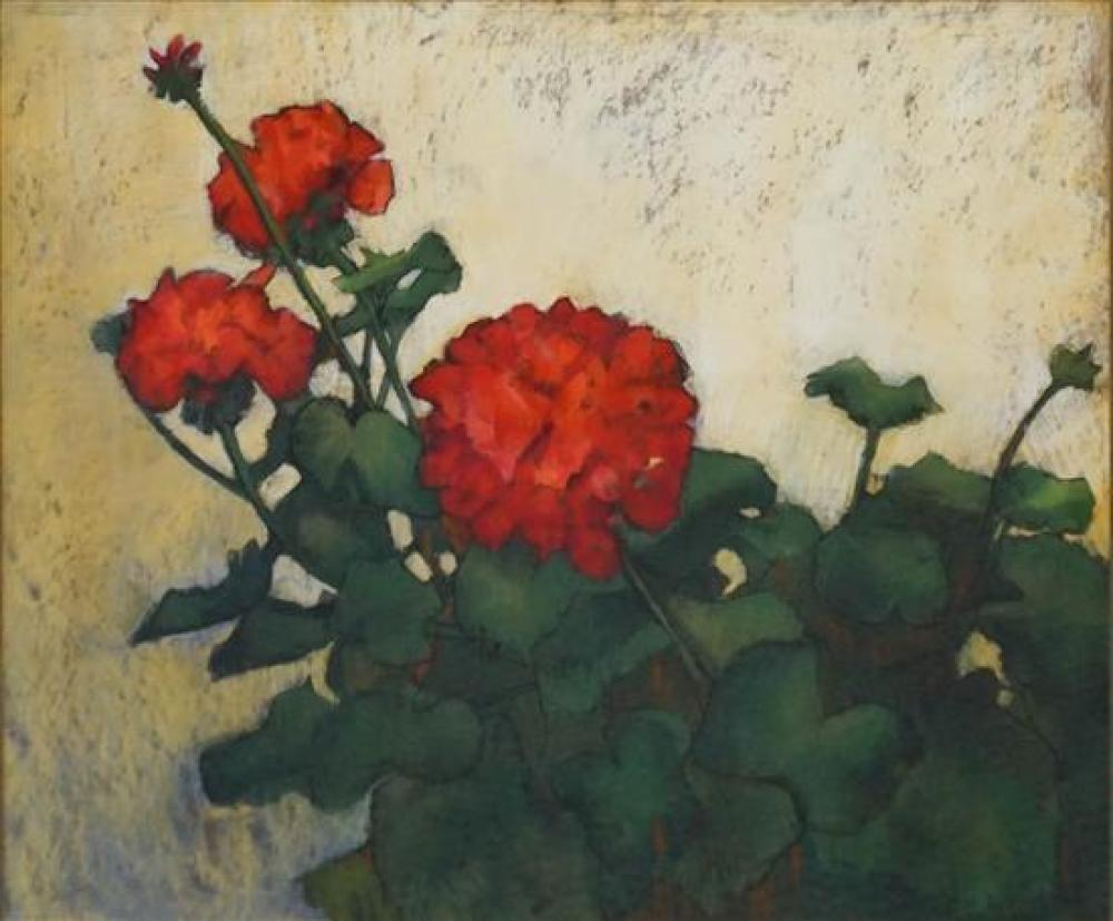 D. Nietoleber, Chrysanthemums, Watercolor and Pastel, Frame: 30-1/2 x 34 in