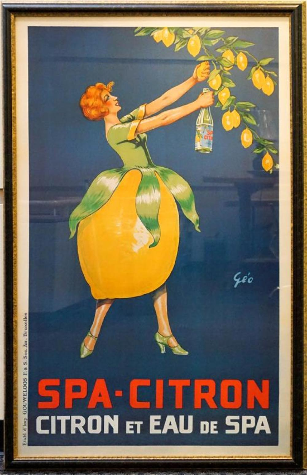 Framed Spa-Citron Reproduction Poster, Frame: 57 x 37-1/2 in