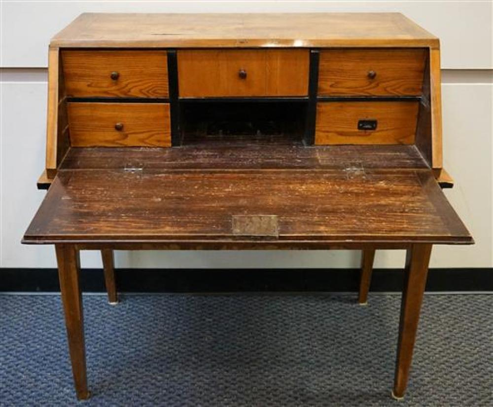 German or Austrian Slant-Front Desk on Stand, H: 41 in, W: 41 in, D: 24 in