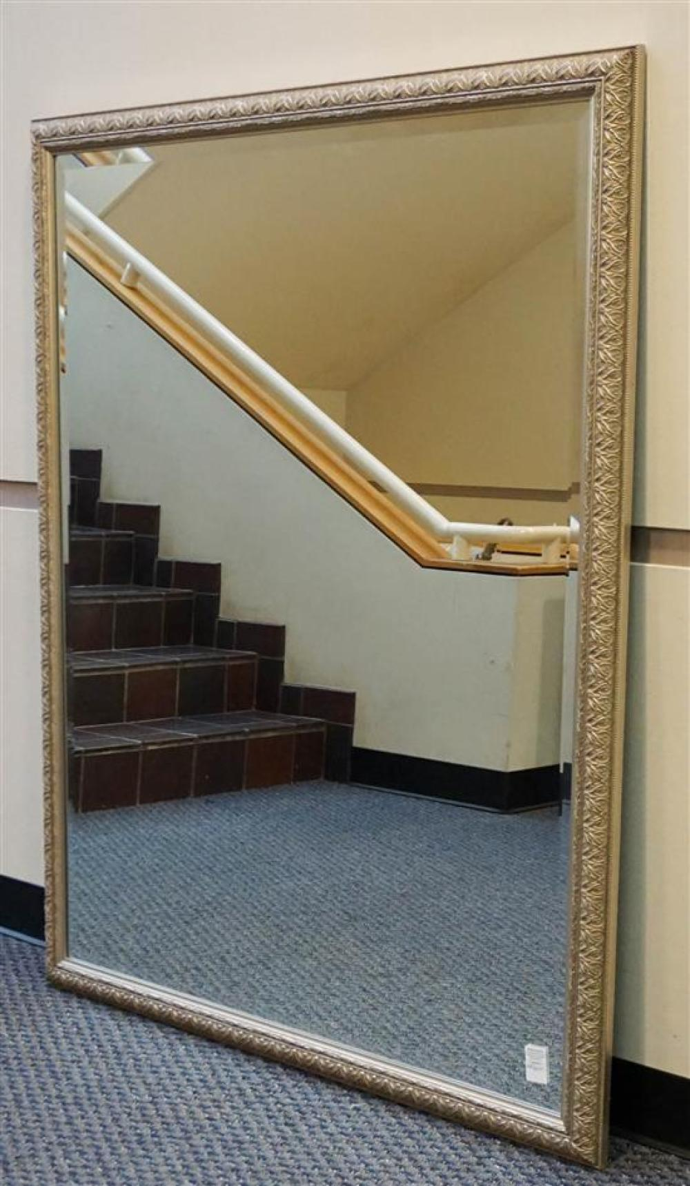 Silvered Wood Frame Bevel Edge Mirror, 57 x 45-1/2 in