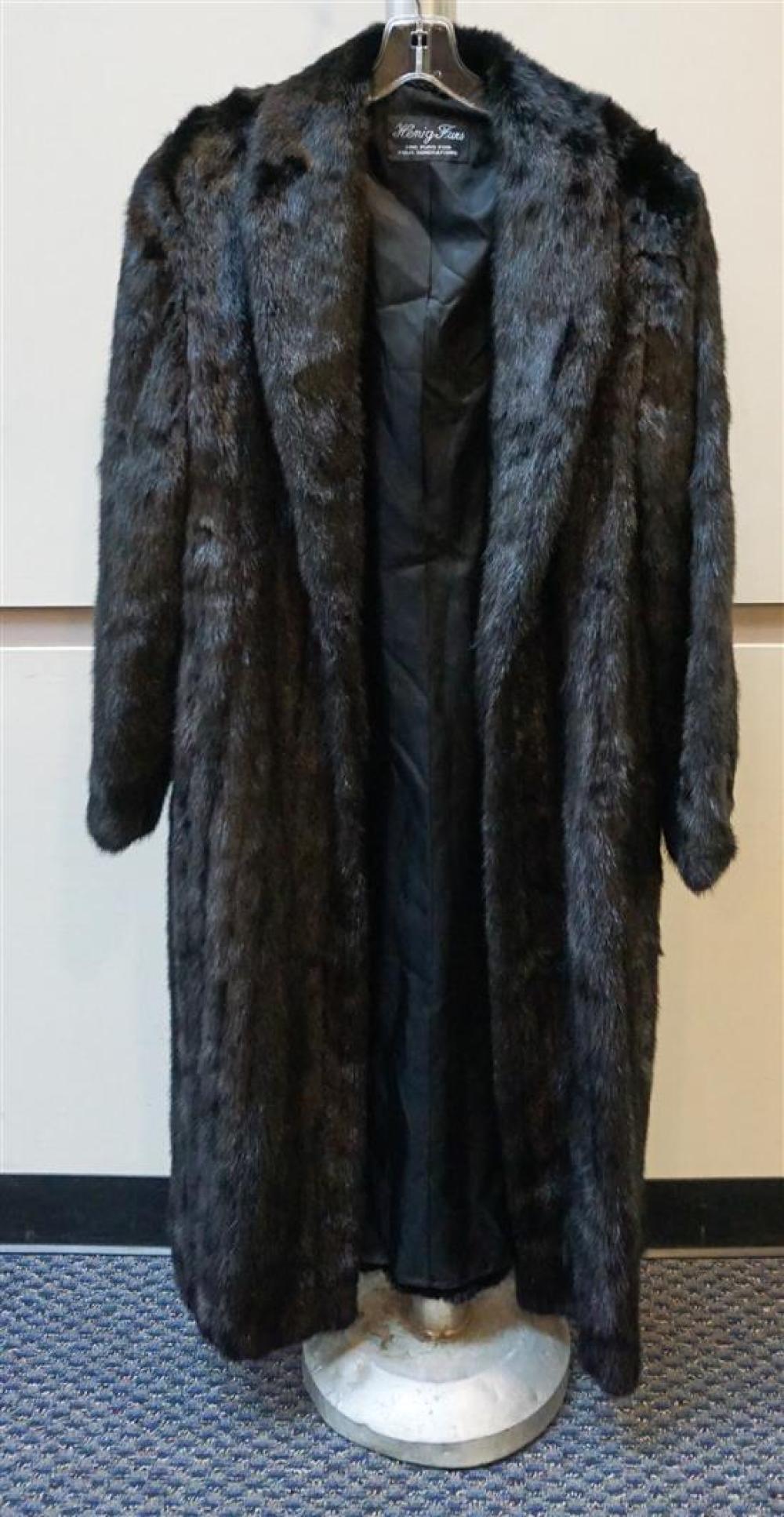 Henig Furs, Black Mink Coat