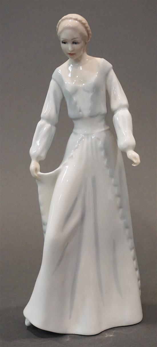 Royal Doulton Reflections Demure Porcelain Figure, H: 12-1/2 in