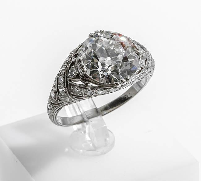 Edwardian Platinum and Diamond Ring, Circa 1910