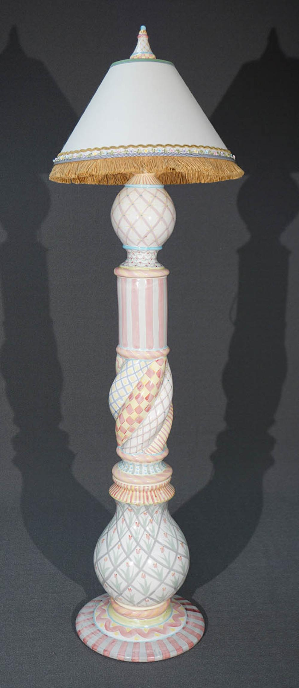 MacKenzie-Childs Art Pottery Floor Lamp
