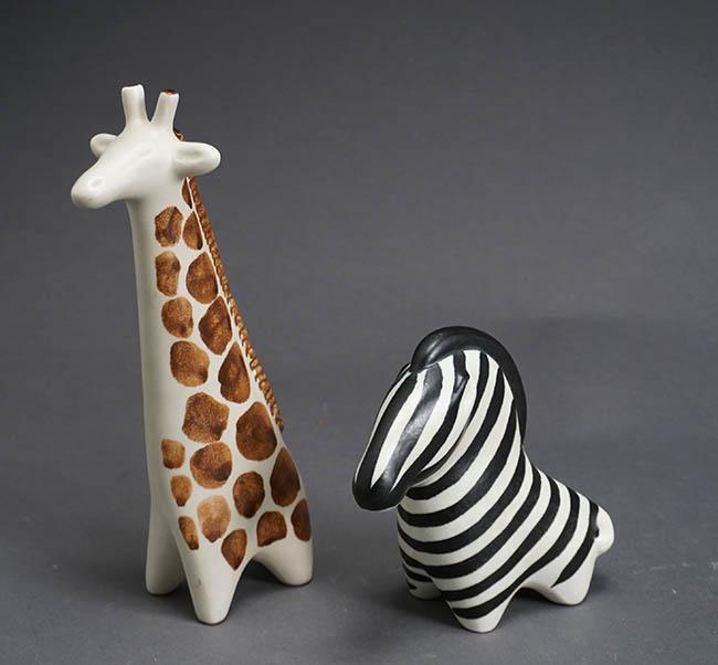Taisto Kaasinen for Arabia Art Pottery Zebra and Giraffe