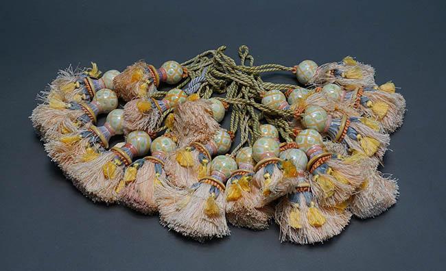 Collection of Twenty-One MacKenzie-Childs Art Pottery Tassels