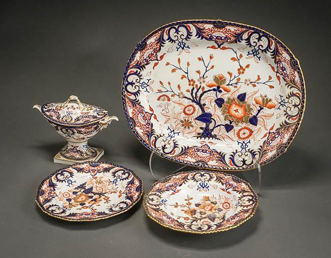 Derby 'Old Japan' Pattern Part Dinner Service Circa 1820-1830