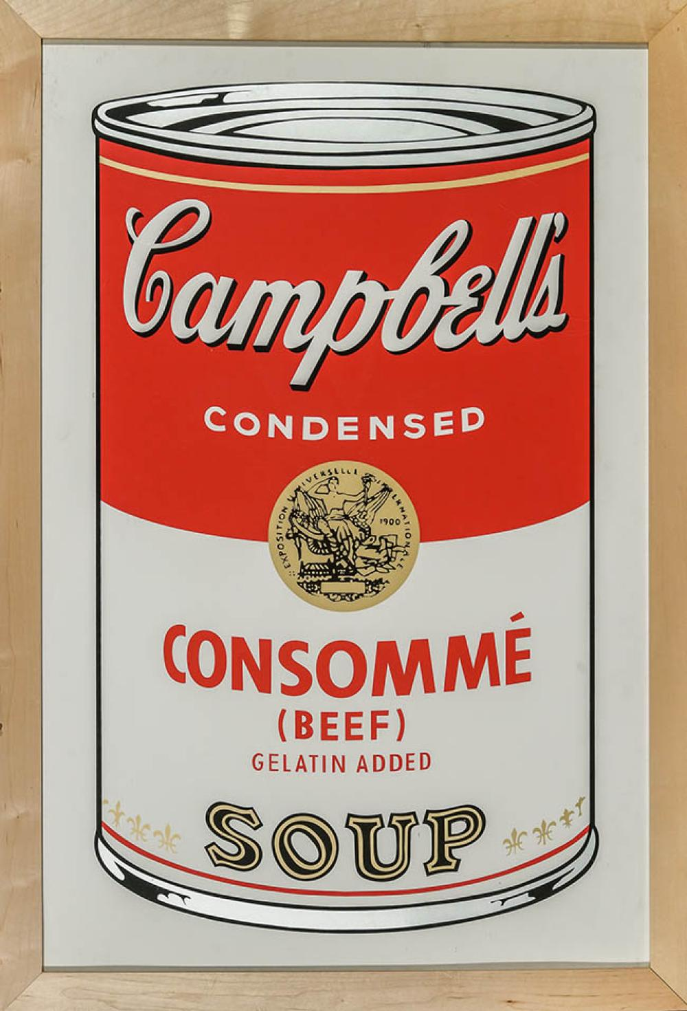 After Andy Warhol (American 1928-1987), Beef Consommé from Campbell's Soup I