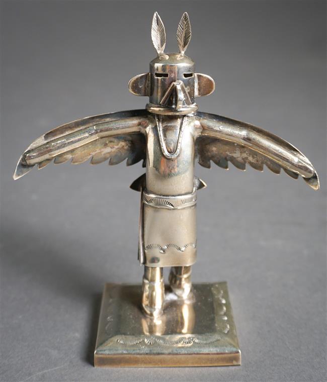 Jeffrey Castillo Sterling Silver 'Eagle' Kachina Doll Figure