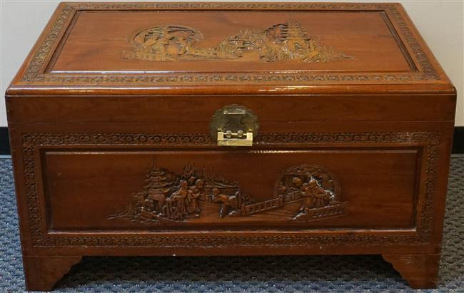 Chinese Camphorwood Blanket Chest, 23 x 40 x 21 inches