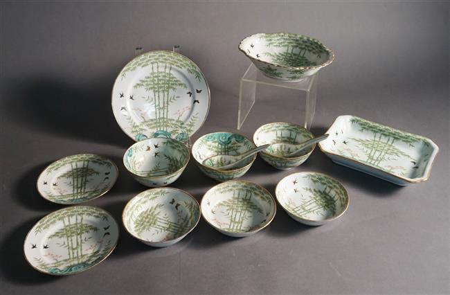 Thirteen Chinese Enamel Decorated Table Articles