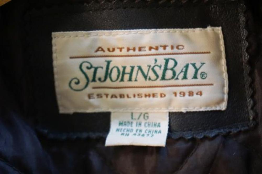St. John's Bay Brown Leather Jacket (Large)