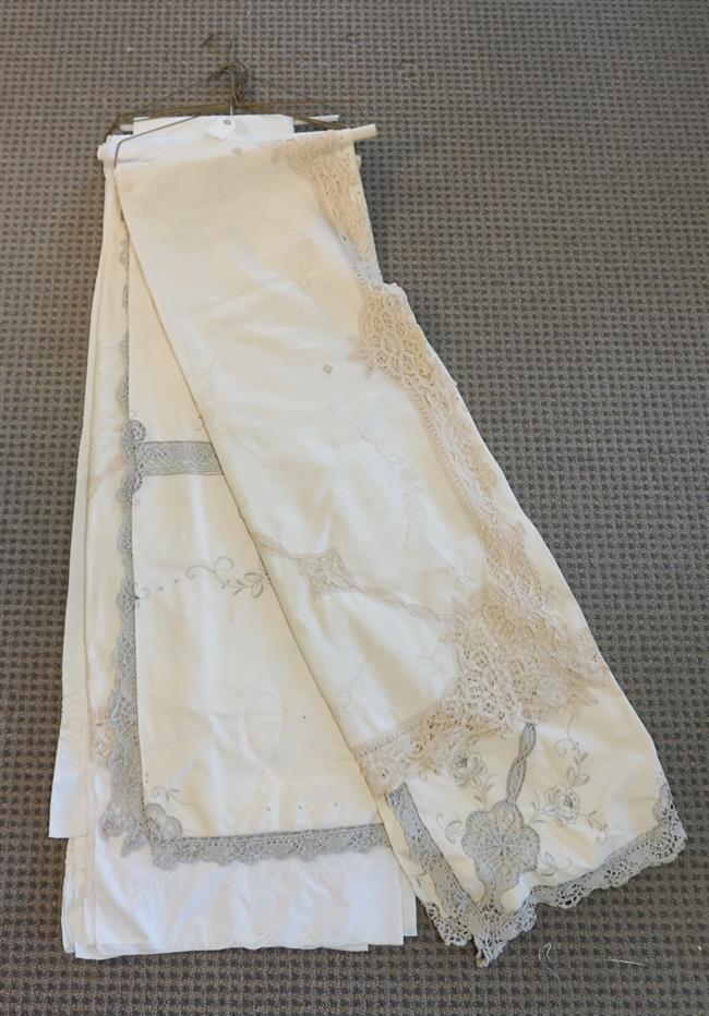 Four Linen Tablecloths