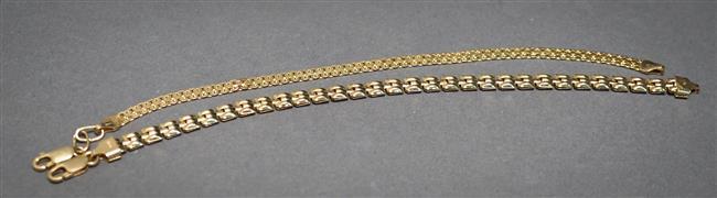 Two 14-Karat Yellow-Gold Bracelets, 6.8 dwt