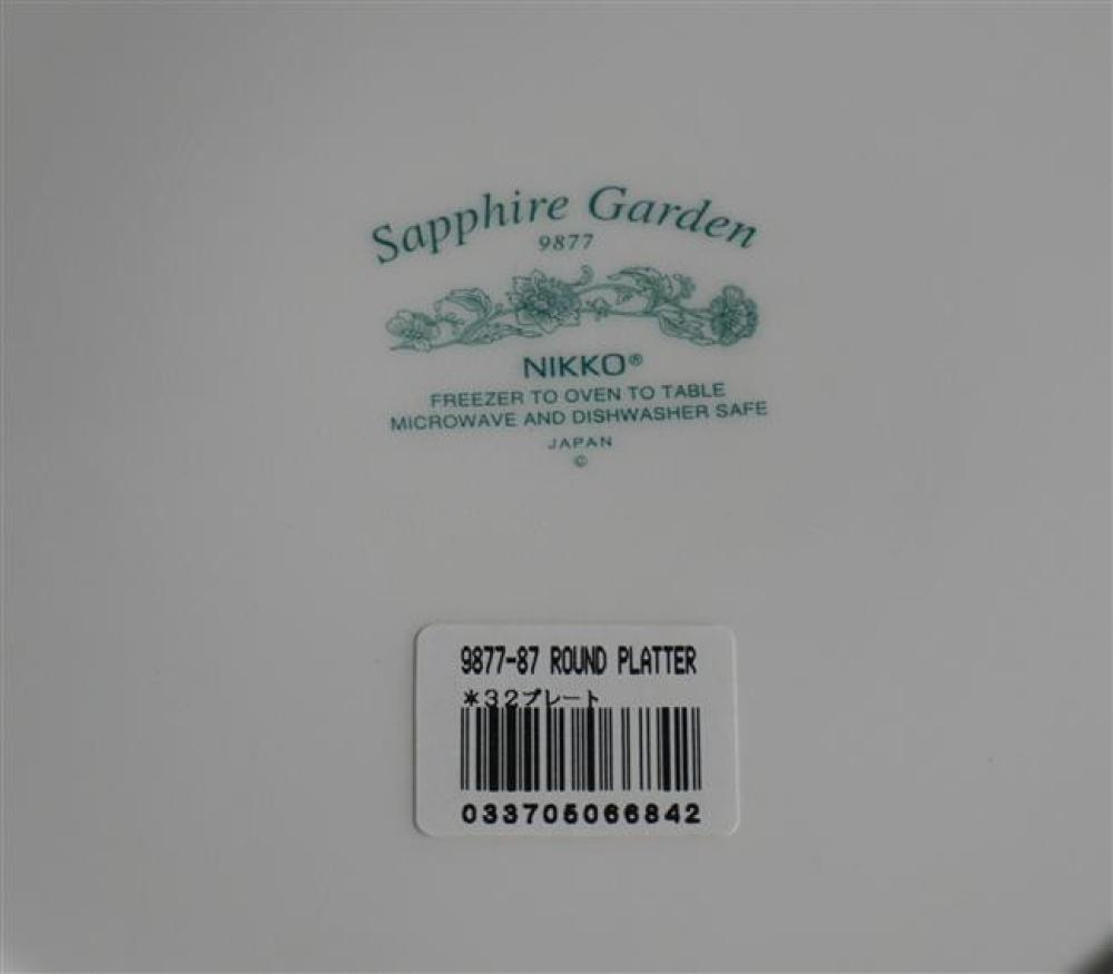 Eight Nikko Sapphire Garden Service Plates
