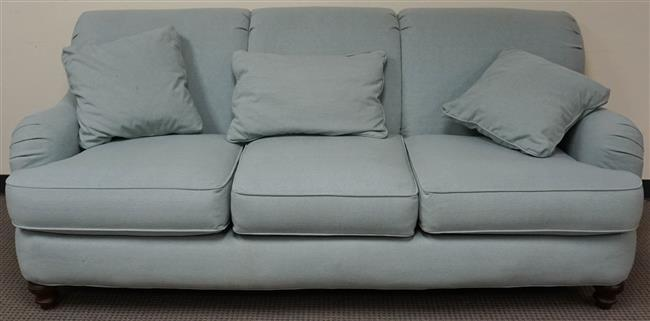 Clayton Marcus Pale Blue Upholstered Sofa, W: 83 in