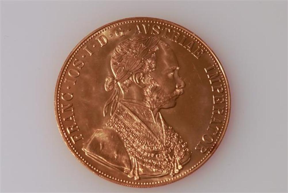Austrian 1915-Restrike Four-Ducat Gold Coin