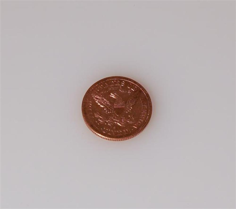 U.S 1880-S Liberty Head Five-Dollar Gold Coin