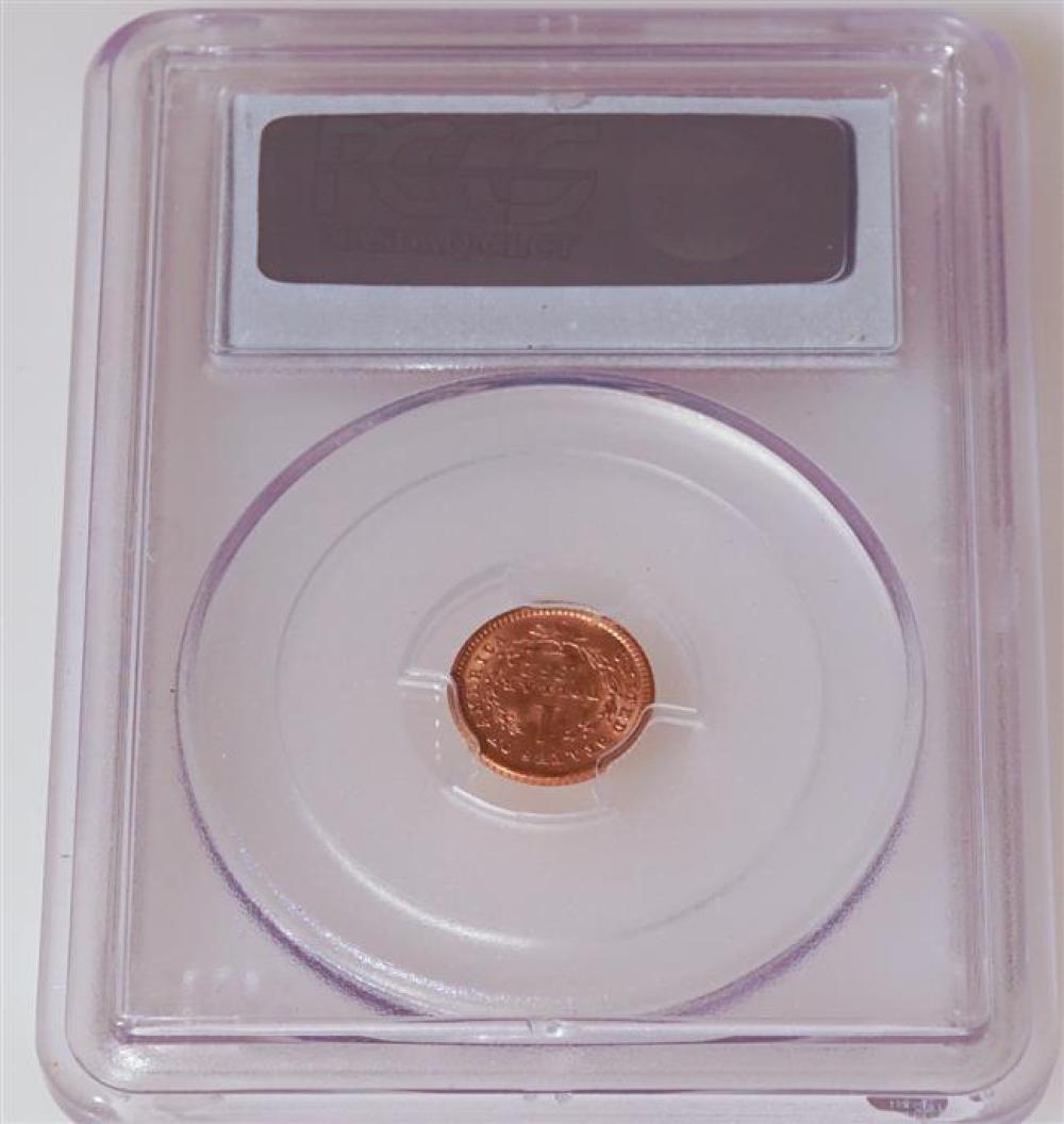 U.S. 1852-O Liberty Head One-Dollar Gold Coin