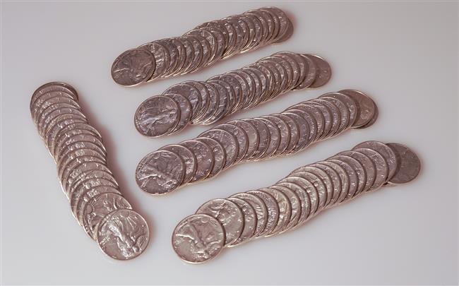 One Hundred U.S. Walking Liberty Silver Half-Dollars