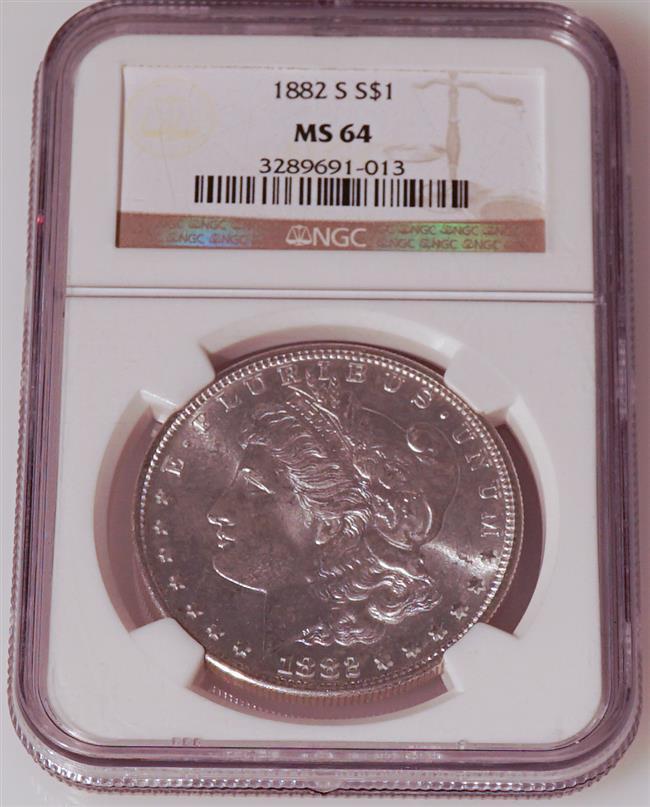 U.S. 1882-S Morgan Silver Dollar