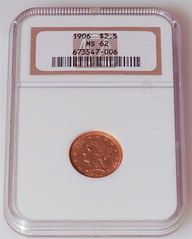 U.S. 1906 2-1/2-Dollar Gold Coin