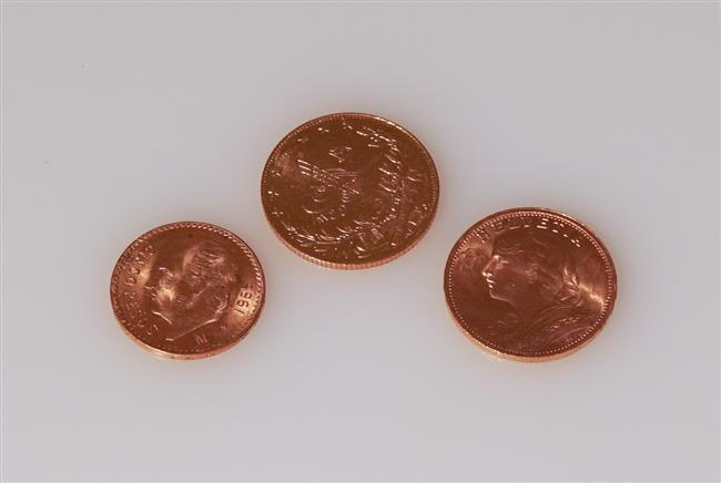 Collection of Three Gold Coins