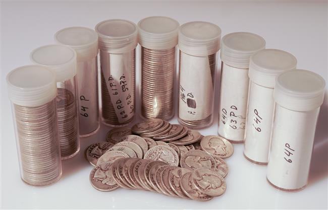 Collection of Approximately Three Hundred Eighty-Seven U.S. Silver Quarters