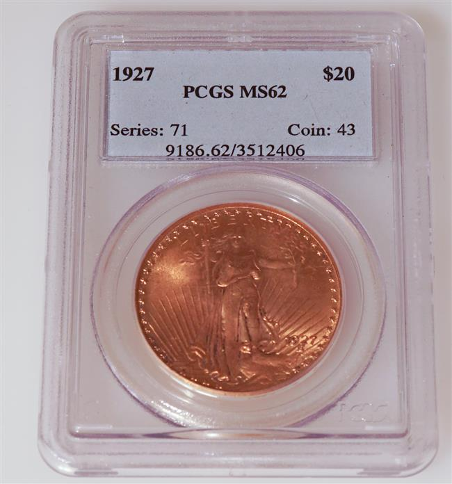 U.S. 1927 Saint Gaudens Twenty-Dollar Gold Coin