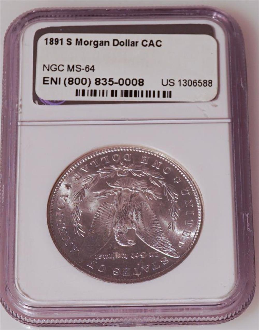 U.S. 1891-S Morgan Silver Dollar