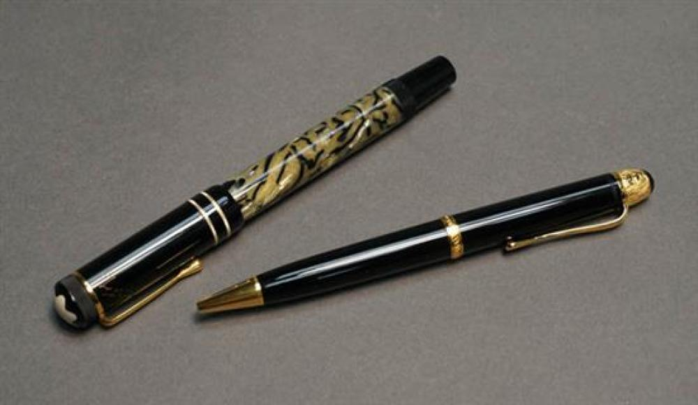 Montblanc 'Oscar Wilde' Fountain Pen and a 'Voltaire' Ballpoint Pen
