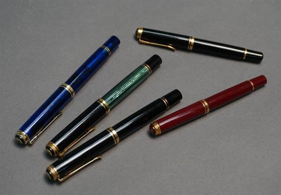 Collection of Five Pelikan Fountain Pens