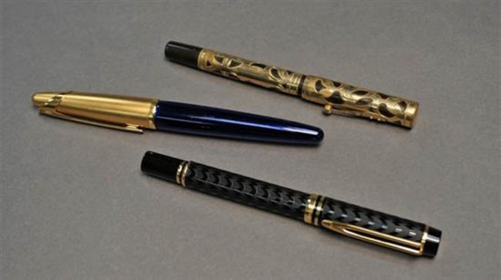 Waterman 'Edson' Fountain Pen and Two Waterman 'Ideal' Fountain Pens
