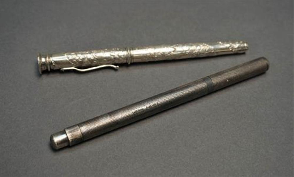 De La Rue Onoto Silver Fountain Pen and a Yard-O-Led 'Imperial' Silver Fountain Pen