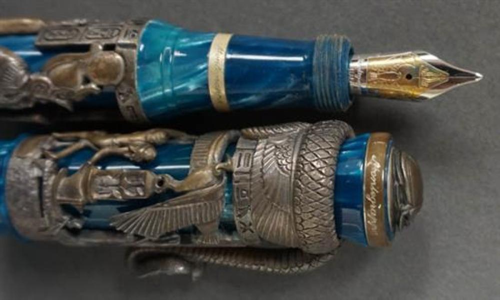 Montegrappa Luxor 'Blue Nile' Sterling Silver Fountain Pen