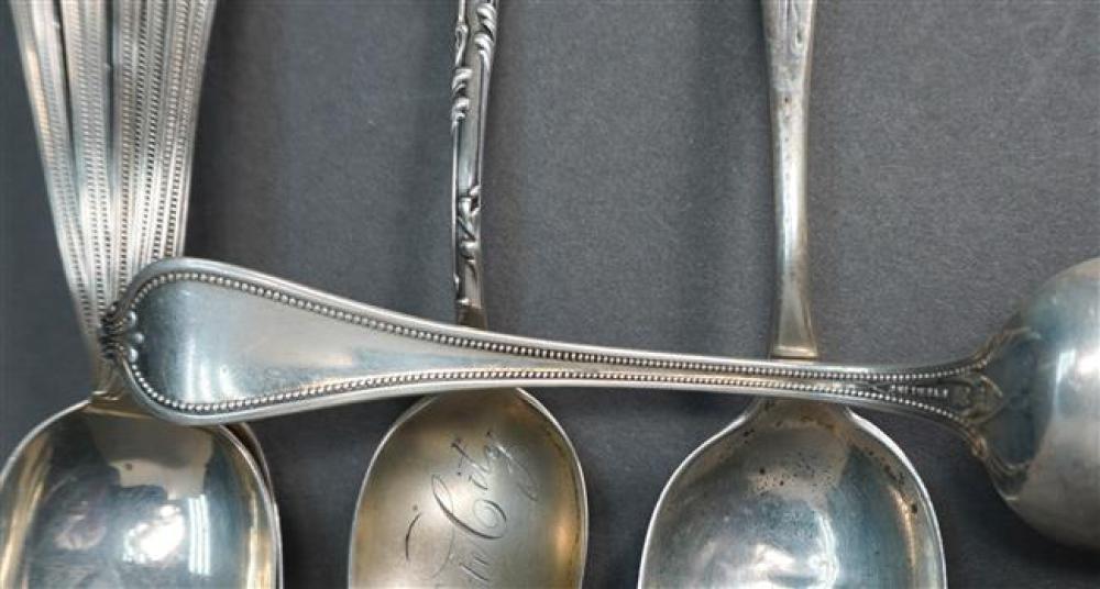 Fourteen Assorted Sterling Teaspoons, 10.7 oz