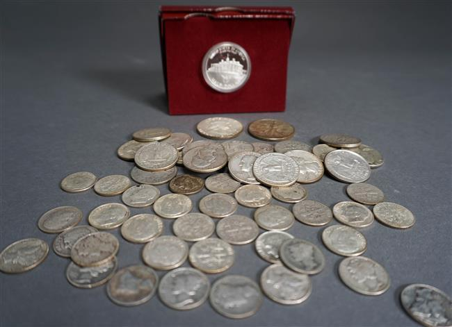Group with American Silver Coins ($10.15 face value)
