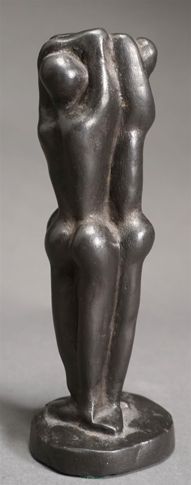Weiss, Three Standing Nude Figures, Black Patinated Bronze, 6.25 Overall Height