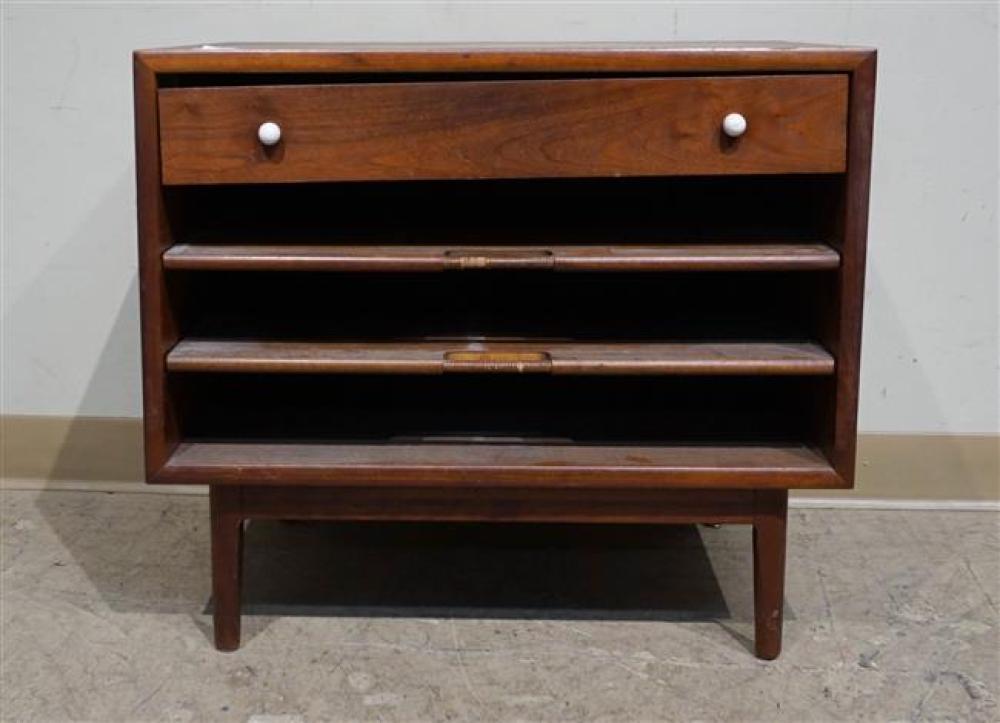 "Drexel Mid-Century Walnut Side Cabinet; 23.25 x 26 x 18 HWD"""