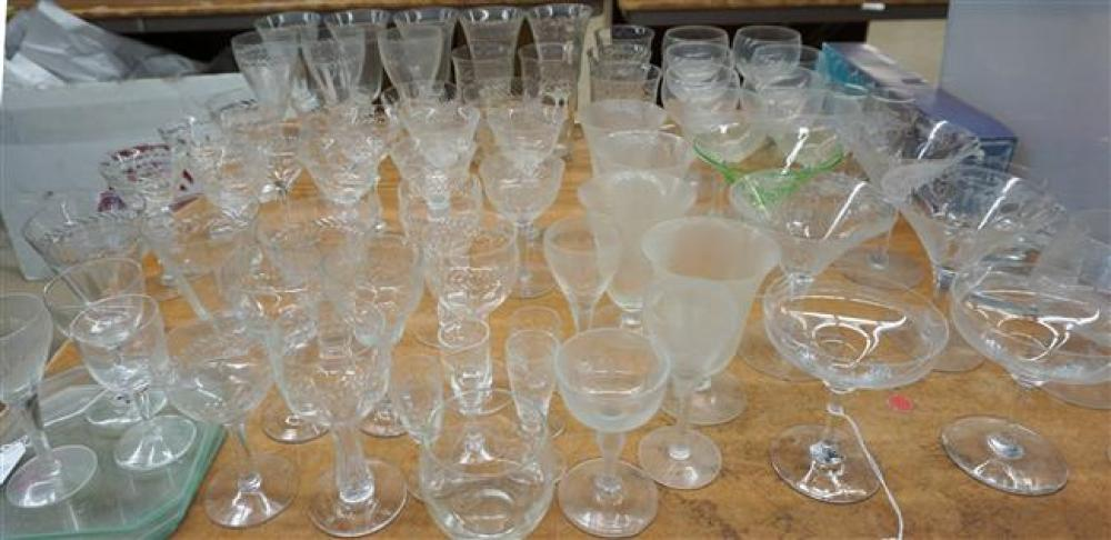 Assembled Glass Stem Table Service and other Table Articles